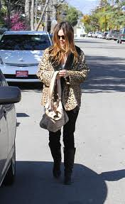 Rachel Bilson Leopard Print Coat Celebrity Style Women's Fashion