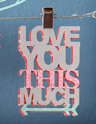valentine word art detail