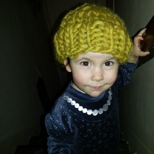 ♥ bonnet de néné taille bébé fait en 30 minutes ♥ #knit #tricot #peaceandwool #wool @peaceandwool #ourlittlefamily #france