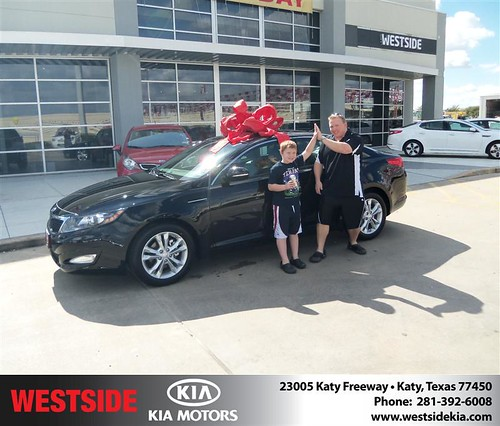 Happy Anniversary to Doug Ransom on your 2013 #Kia #Optima from Elhallal Rizkallah  and everyone at Westside Kia! #Anniversary by Westside KIA