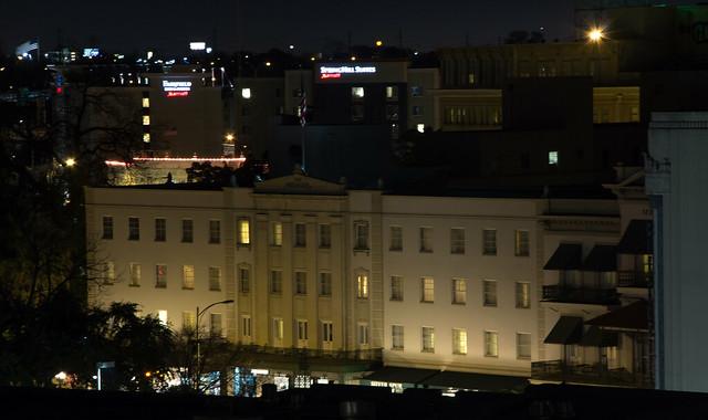 The Menger Hotel at Night