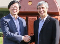 Yang Yuanqing, Lenovo y Larry Page, Google