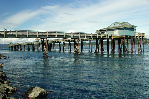 Discovery Pier in Campbell River, Vancouver Island, British Columbia, Canada