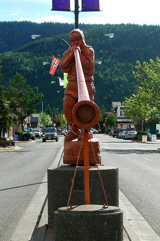 Alpenhorn Blower, Smithers, Yellowhead Highway 16, Bulkley Valley, Northern British Columbia, Canada