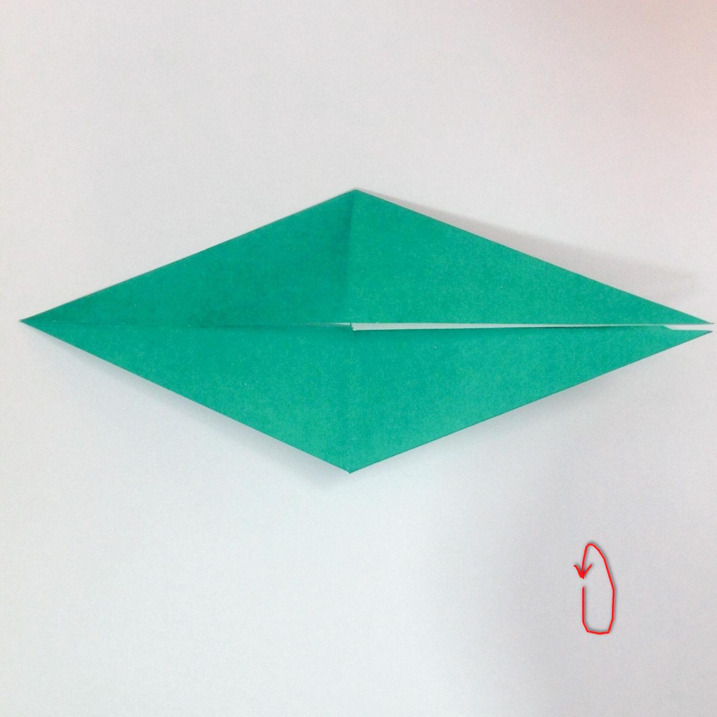 สอนวิธีการพับกระดาษเป็นรูปปลาฉลาม (Origami Shark) 019