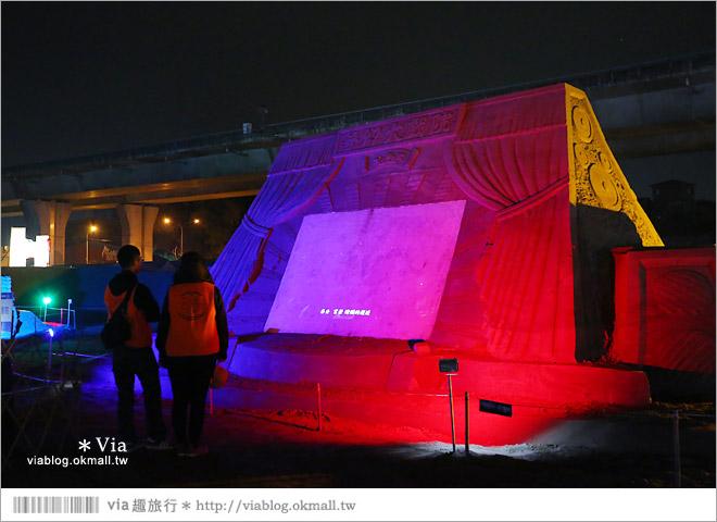 【2014台灣燈會在南投】南投沙雕燈會~夜間點燈好浪漫!還有精彩光雕秀10