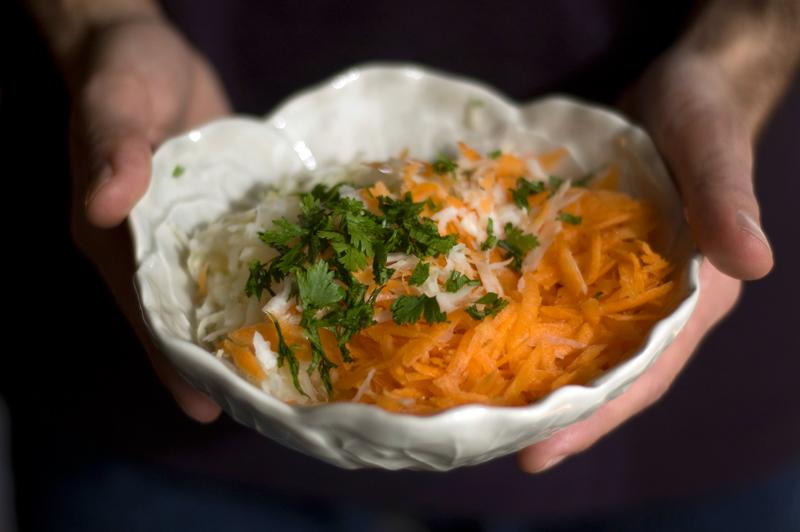 Salada de aipo e cenoura