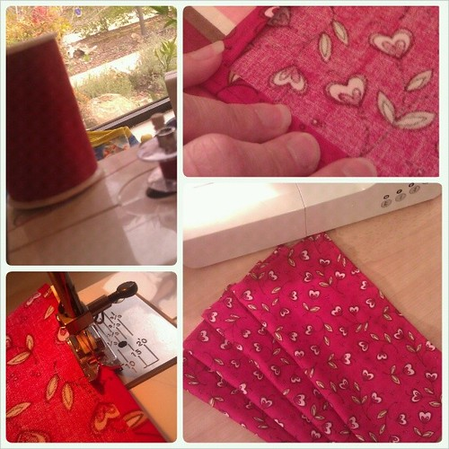 Four new napkins for our Valentine's Day family meals #valentine #sewing #home #holiday #homemade #loveinthesuburbs