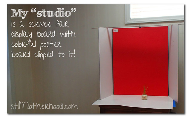 my studio is a science fair display board