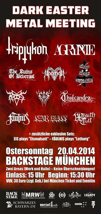 04/20/14 Dark Easter Metal Meeting 2014 @ Backstage Munchen, Munchen, Germany