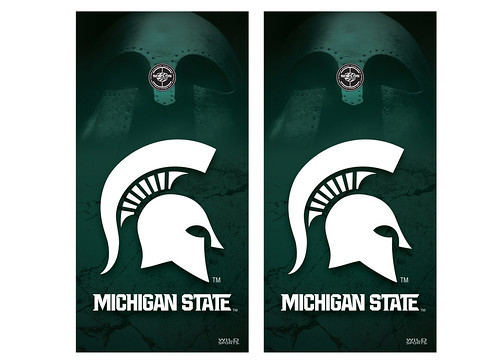 Michigan State Cornhole Game Decal Set