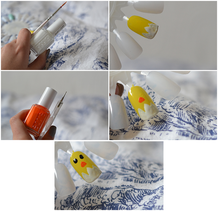The Easter Chick Nail Tutorial 2