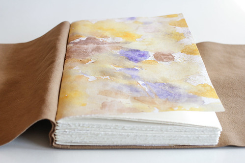 Leather Longstitch Watercolor Journal-25