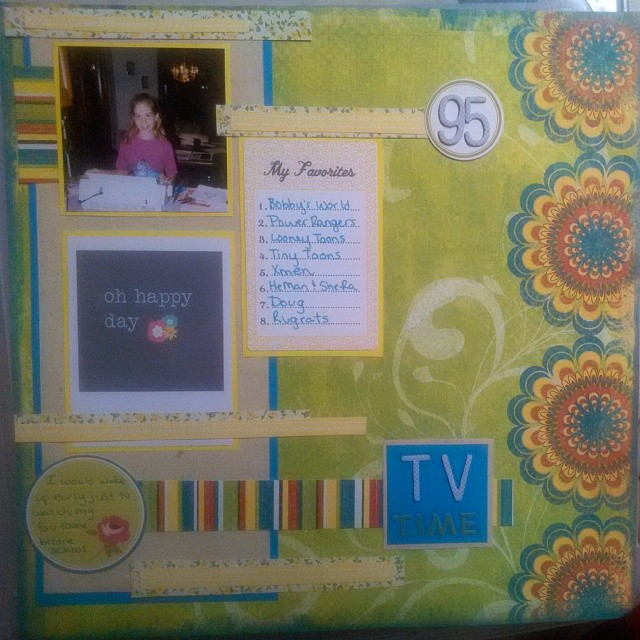 LOAD514 - Favorite TV shows scrapbooking layout