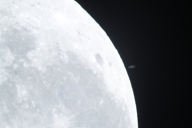 Saturn getting very close to the Moon