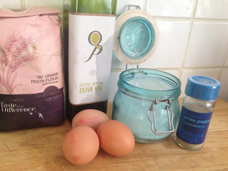 Crab and Scallop Ravioli : Pasta Ingredients