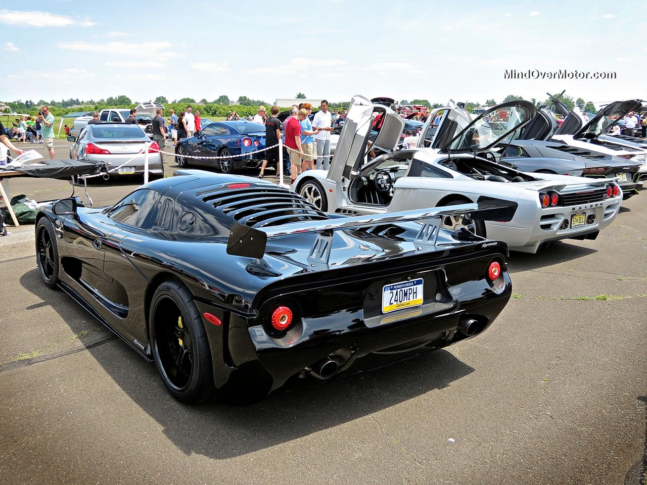 Mosler Raptor GTR and Saleen S7 at CF Charities