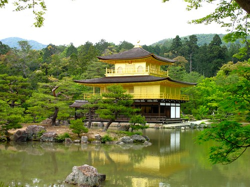 next stop: Kinkaku-ji, the Golden Pavillion, a world cultural heritage site.