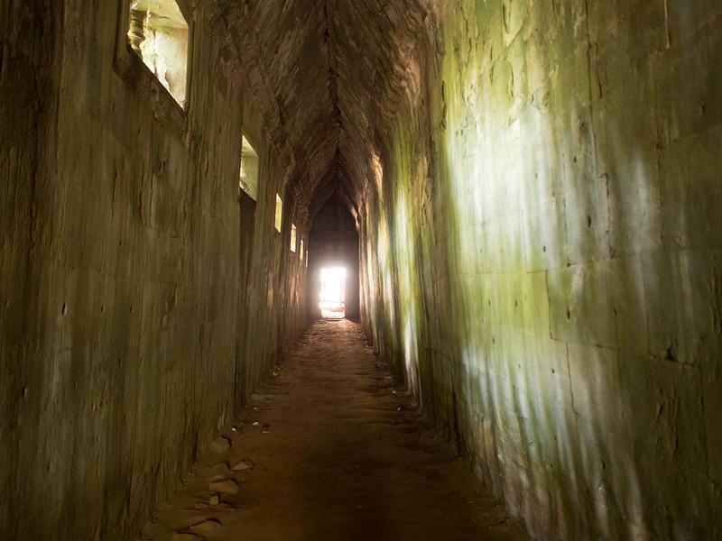 A dark hallway