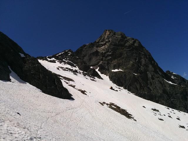 Aufstieg Klausenscharte mit Blick auf Rauchkofel, Tauferer Ahrntal