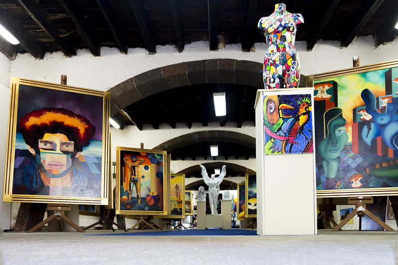 Modern Art Gallery in Old City, Funchal, Madeira