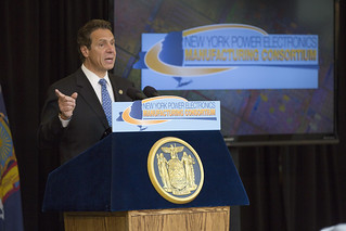 Gov. Cuomo at launch of Power Electronics Manufacturing Consortium