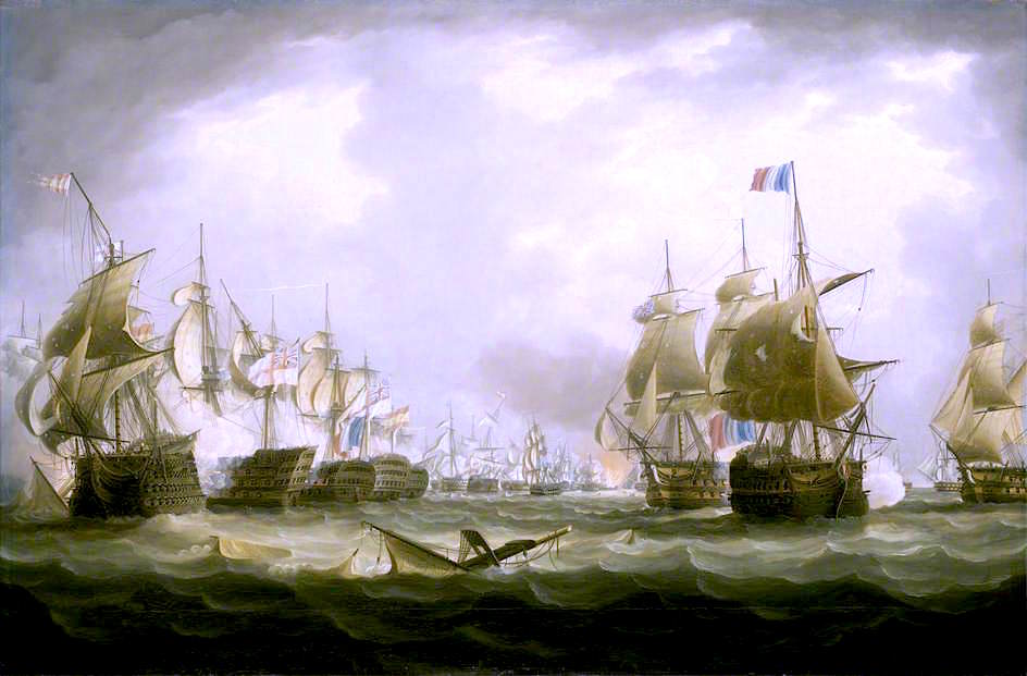 The Battle of Trafalgar, 21 October 1805 - Beginning of the Action by Thomas Buttersworth