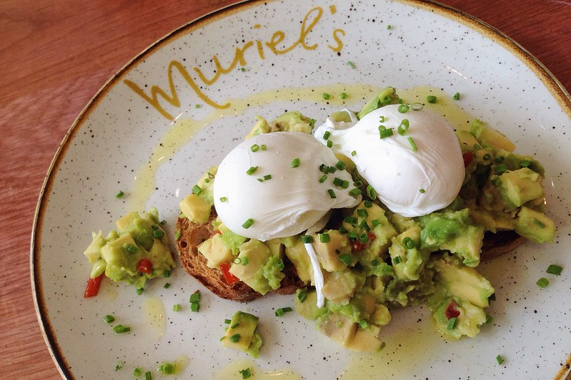 Nguyen, Dana; London, England - Good Eats, Poached eggs and avocado toast from Muriels Kitchen