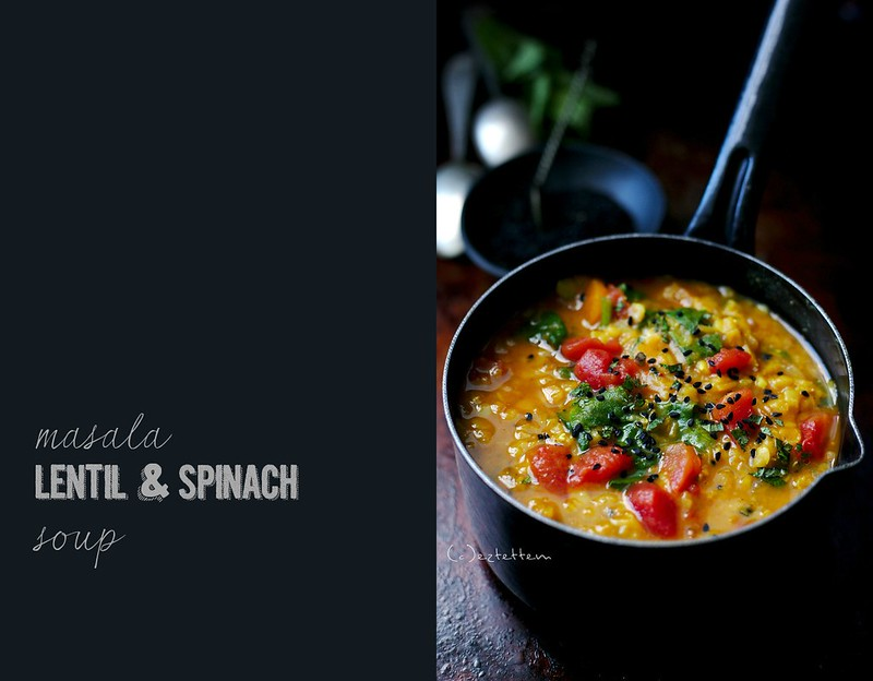 masala lentil and spinach soup