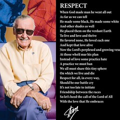 WELL SAID!! #stanlee #respect #marvel #geekculture #constantcollectible #noplaceforhate #comicbooks #comiccreator