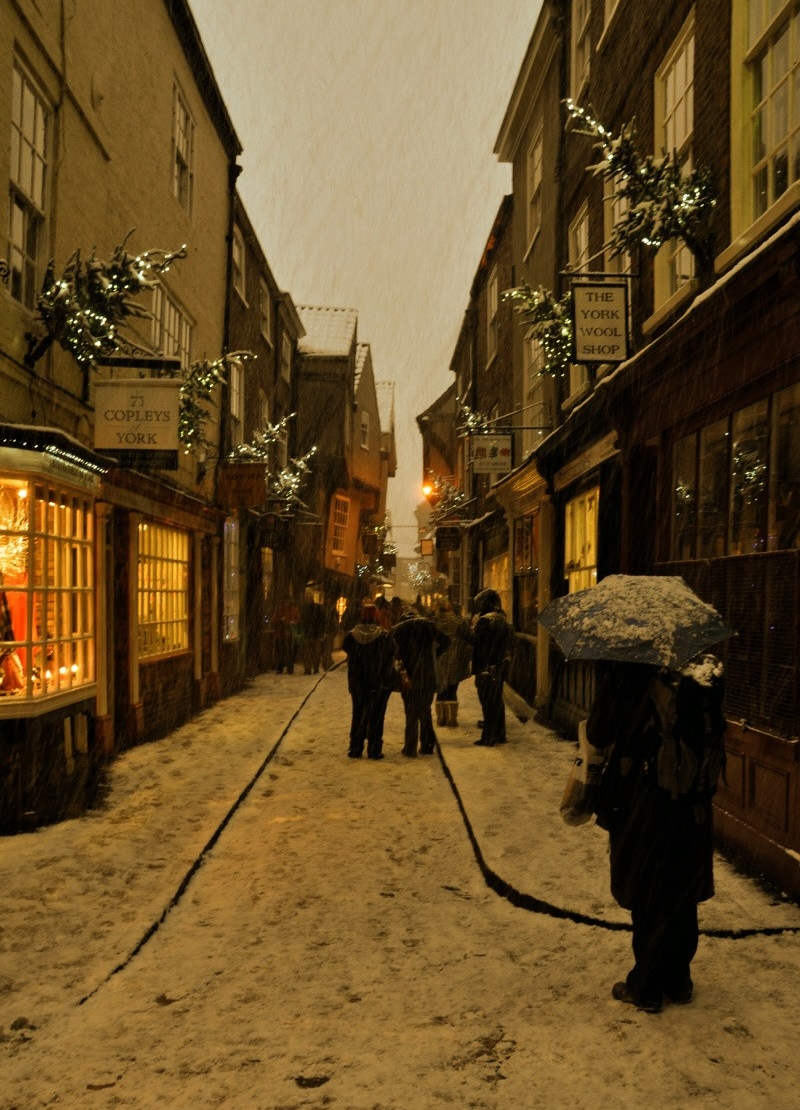 Shambles in Snow. Credit Matt Cornock