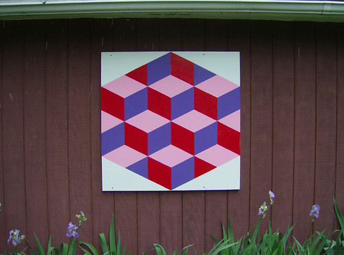 barn quilt on my aunt diane's garage