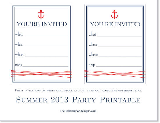 Summer 2013 Party Printable 4