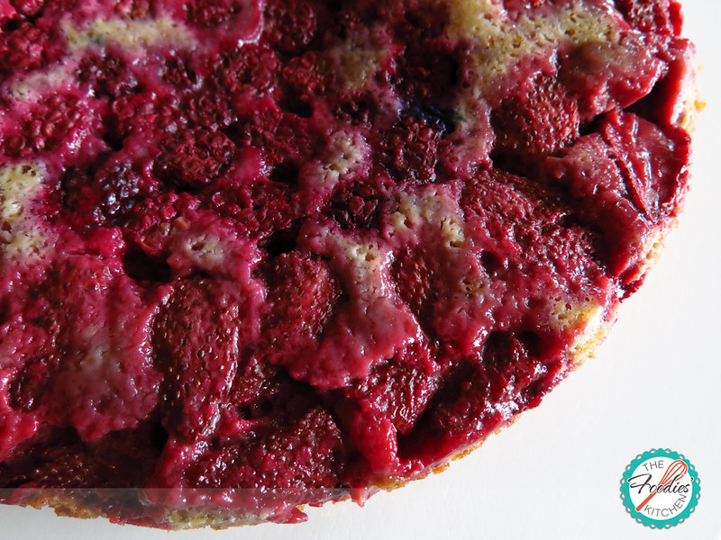 Mixed Berry Upside Down Cake