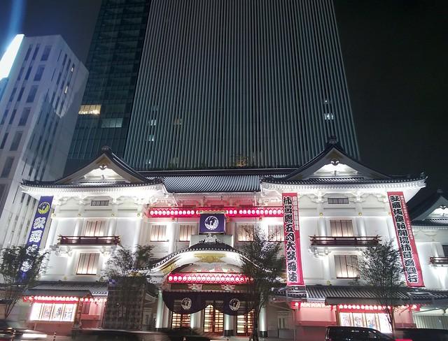 夜の歌舞伎座 Lumia920で撮影