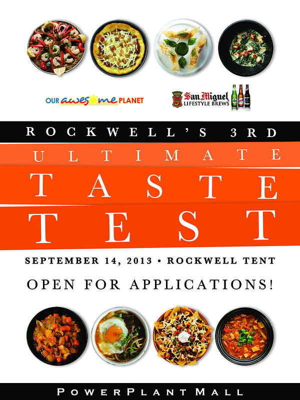 Announcing… Rockwell's 3rd Ultimate Taste Test 2013 on September 14, Saturday! (Now Open for Applications!)