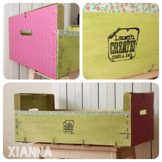 Caja fruta reciclada / Recycled fruit box