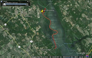 Paddle Route for Lake Marion
