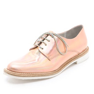 fair trade oxfords by miista iridescent pink