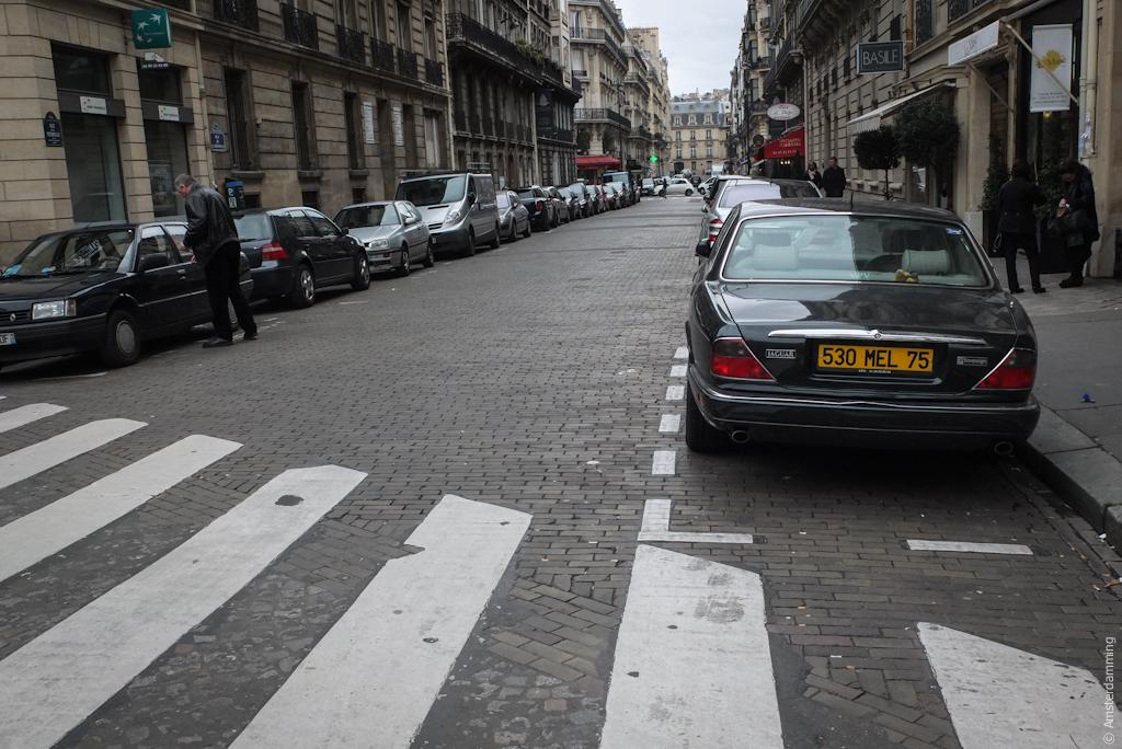 Paris, Street in Champs-Élysées Area