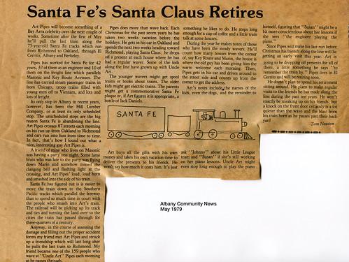 ATSF Santa Claus retires