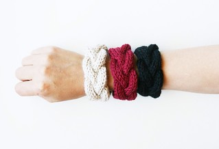 cabled bracelets/braided cuffs