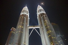 Petronas Twin Towers Under Moon