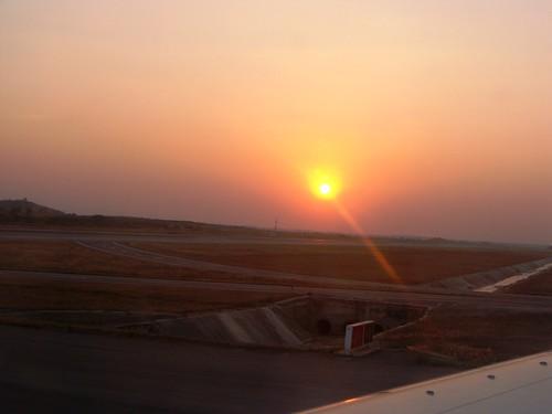 sunset sun india nature set plane landscape airport aeroplane international gandhi rajeev hyderabad andhra rajiv andhrapradesh internationalairport rayalaseema gmr shamshabad rajivgandhi telangana shamsabad seemandhra