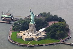 Statue of Liberty from the air