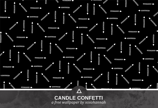 Candle Confetti Desktop Background Preview in Black