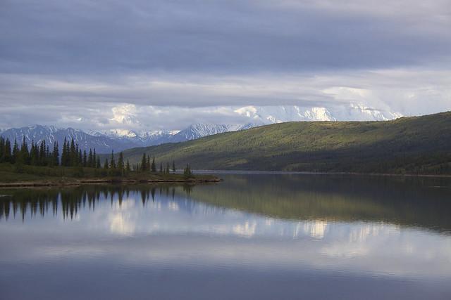 Wonder Lake y Monte McKinley. Parque Nacional Denali. Alaska