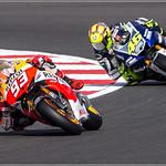 Marc Marquez  93 Leading Valentino Rossi  46