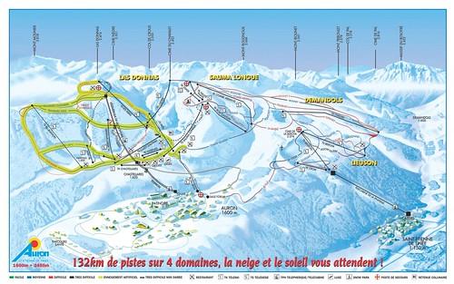 Auron - mapa sjezdovek