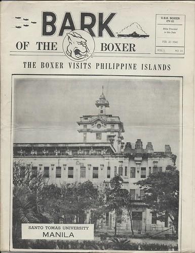 USS Boxer CV-21 vintage newspaper